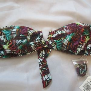 PilyG NWT Swim Suit Bandeau V Fly Away L Padded